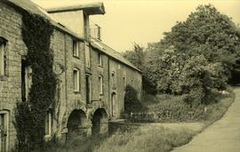 View from road showing basement arches, Winfield Mill, Plaxtol