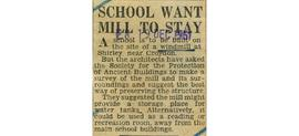"""School want mill to stay"""