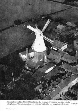 Enlarged Aerial Photo used for identifying Mill Complex