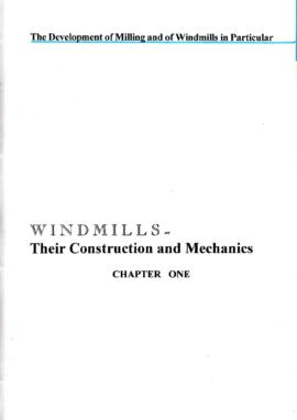 Chapter 1 - The development of milling, and of windmills in particular