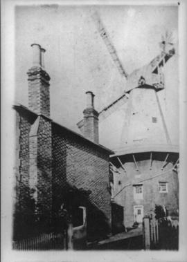 Union Mill, showing  wide stage which was replaced in 1880