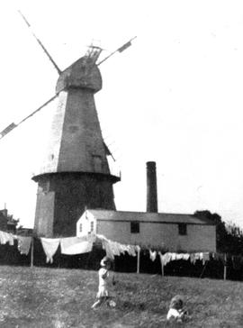 Photograph of Union Mill from fields behind