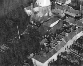 Aerial photograph of Union Mill buildings
