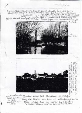 Helen Wilson notes on the Russell family involvement with other Kent Mills 2 of 3  (copy)