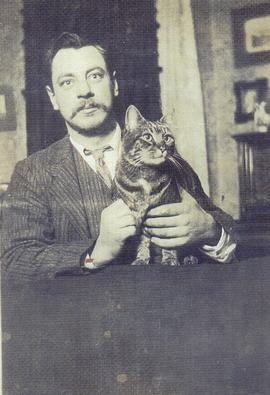 John Russell great cat lover
