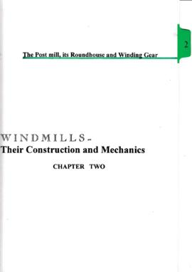 Chapter 2 - The post mill, its roundhouse and winding gear