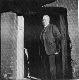 Photograph of John Russell in Union Mill doorway