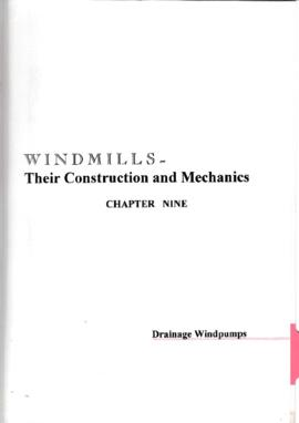 Chapter 9 - Drainage windpumps